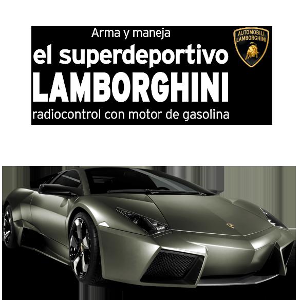 Arma y maneja el superdeportivo Lamborghini radiocontrol con motor de gasolina