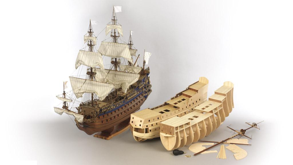 Constuye un barco de primera línea del s.XVII