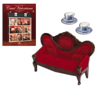Fascículo 4 + Sofá + Servicio de té de porcelana