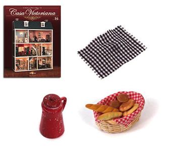 Fascículo 16 + Cesto para pan + Cafetera Roja + Trapo