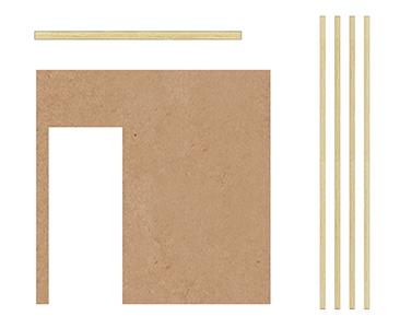 Fascículo 62 + Tabique interior cocina - Moldura vertical tabiques interiores + Zócalos tabiques