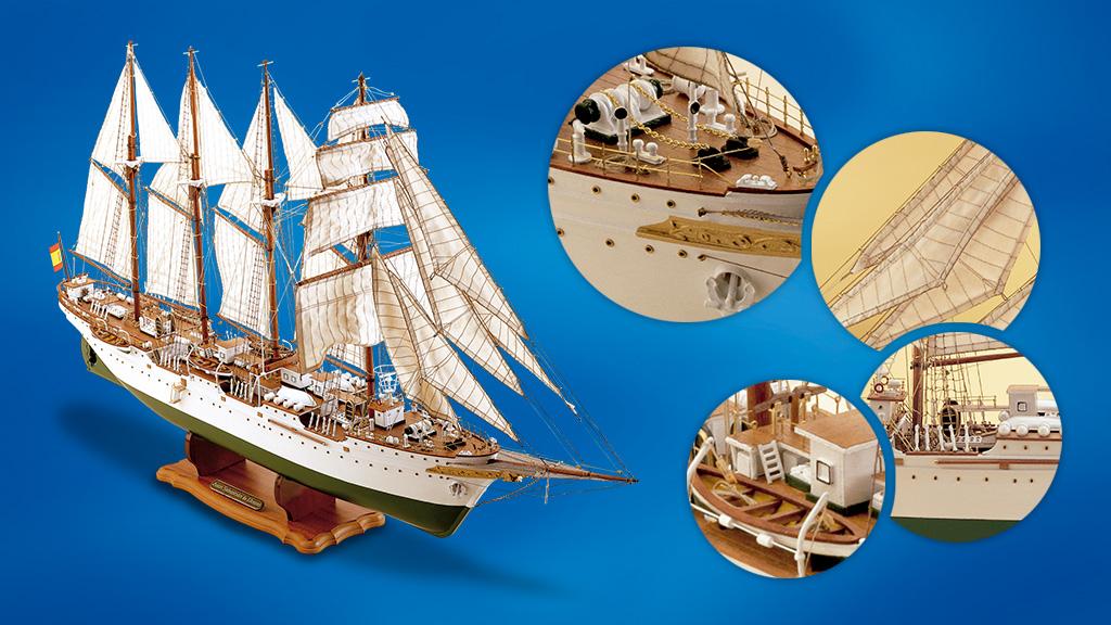 Un velero de colección. Una pieza de museo... para mostrar tus habilidades