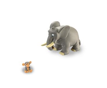 Libro 3: El elefante + figuras