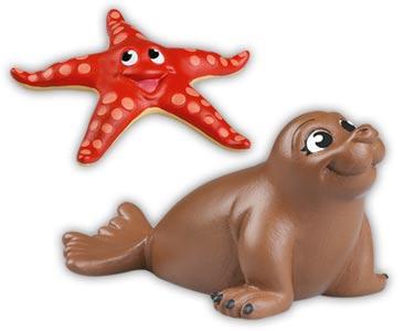 Libro 37 + elefante marino mamá + estrella de mar