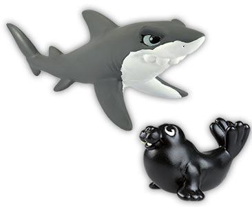 Libro 39 + tiburón mamá + morsa bebé