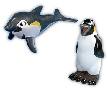 Libro 5 + papá pingüino emperador + mamá delfín