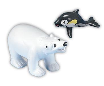 Libro 4 + papá oso polar + bebé delfín