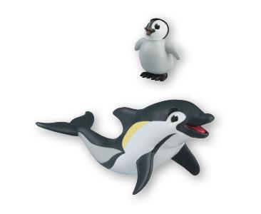 Libro 1 + bebé pingüino emperador + papá delfín