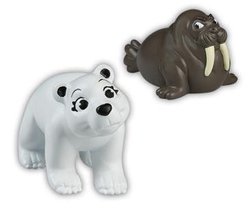 Libro 16 + bebé oso polar + mamá morsa