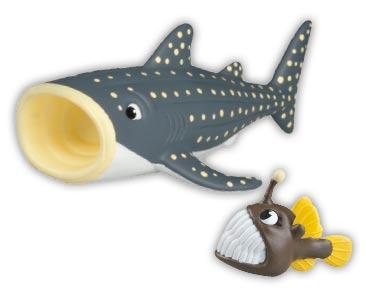 Libro 52 + Pez linterna bebé - Tiburón ballena papá