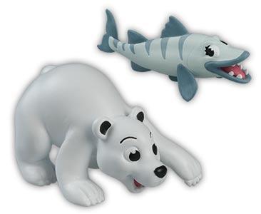 Libro 13 + bebé oso polar + mamá barracuda