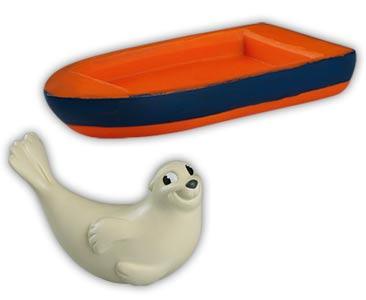 Libro 29 + foca de Groenlandia mamá + barco (parte inferior)