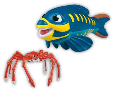 Libro 23 + papá cangrejo gigante + papá pez loro