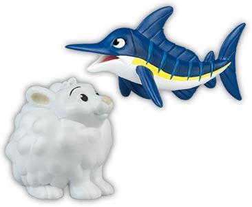 Libro 22 + mamá pez espada azul + bebé liebre ártica