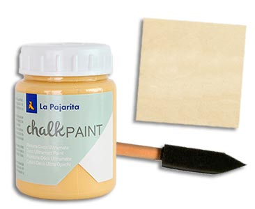 Fascículo 60 + Chalk Ocre Sahara + esponja con mango + cuadrado de madera
