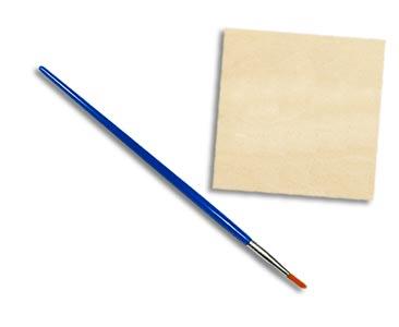 Fascículo 62 + Chalk Piel de mar + pincel fino + cuadrado de madera