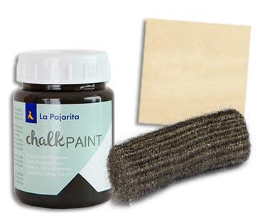 Fascículo 69 + Chalk Casi negro + lana de acero + cuadrado de madera