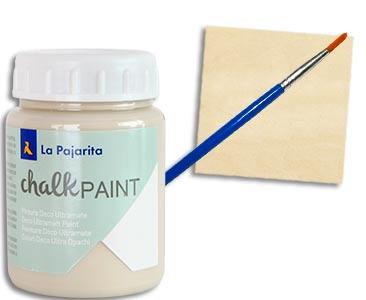 Fascículo 45 + Chalk Paint Beige antiguo + pincel + cuadrado de madera