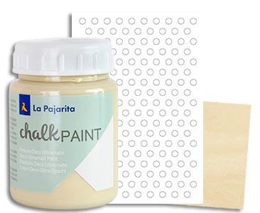 Fascículo 30 + Chalk Paint Dulce lima + stencil de topos + cuadrado de madera