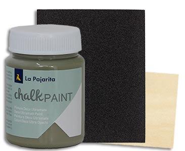 Fascículo 32 + Chalk Paint Agave + lija de grano grueso + cuadrado de madera