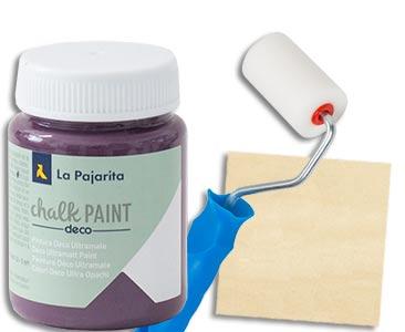 Fascículo 35 + Chalk Paint Aubergine + rodillo + cuadrado de madera