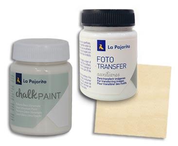 Fascículo 16 + Chalk Paint Sweet cream + Cola para Foto Transfer + cuadrado de madera