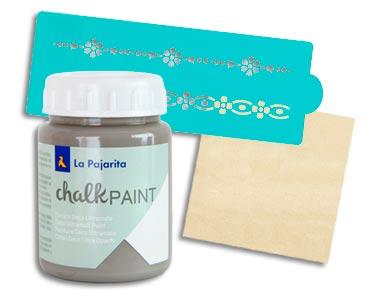 Fascículo 10 + Chalk Paint Vintage + stencil border + cuadrado de madera
