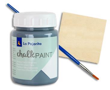 Fascículo 8 + Chalk Paint Gris Urbano + pincel redondo nº 6 + cuadrado de madera
