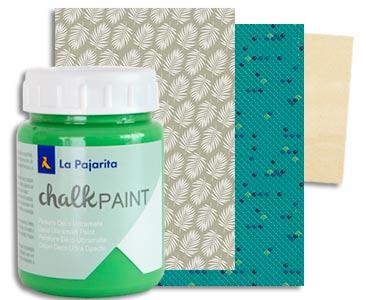 Fascículo 70 + Chalk Albahaca + papeles de découpage + cuadrado de madera