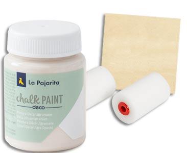 Fascículo 82 + pintura Nude + esponja para rodillo + cuadrado de madera
