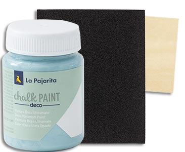 Fascículo 83 + pintura Pacific island + papel de lija + cuadrado de madera