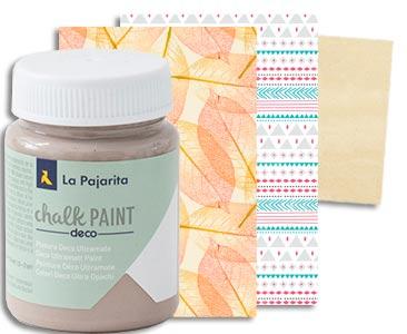 Fascículo 85 + pintura Toffee + papeles estampados de découpage + cuadrado de madera