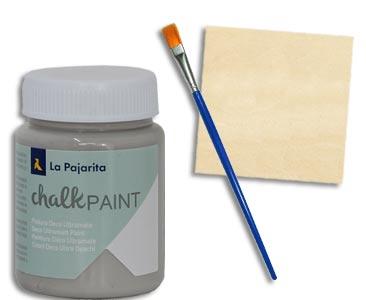 Fascículo 71 + pintura London grey + pincel fino + cuadrado de madera