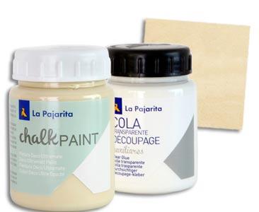 Fascículo 73 + pintura Dulce lima + cola de découpage + cuadrado de madera