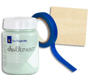 Fascículo 88 + pintura Mint + pincel fino + cuadrado de madera