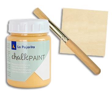 Fascículo 90 + pintura Ocre Sahara + esponja con mango + cuadrado de madera