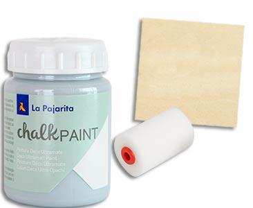 Fascículo 97 + pintura Azul cristal + esponja de rodillo + cuadrado de madera