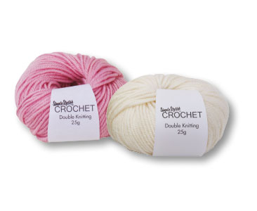 Fascículo 3 + ovillo Blanco vainilla + ovillo Rosa algodón de azúcar