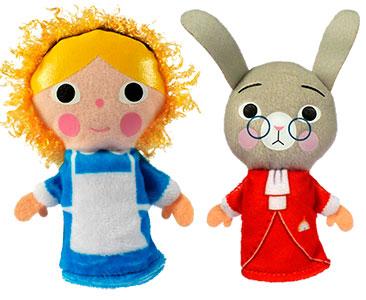 Alicia en el Pais de las Maravillas + los títeres de Alicia y del conejo