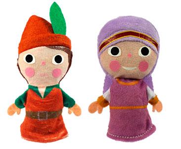 Robin Hood + los títeres de Robin y de Lady Marian
