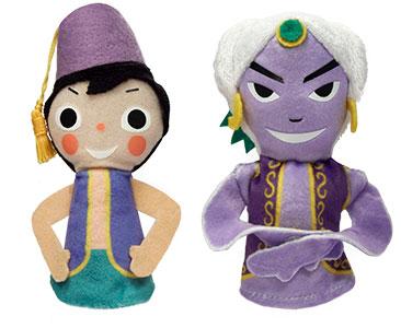 Libro Aladino y la lampara maravillosa + los títeres de Aladino y del Genio