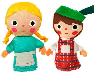 Hansel y Gretel + los títeres de Hansel y de Gretel