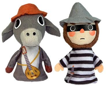 Los músicos de Bremen + los títeres del burro y del ladrón