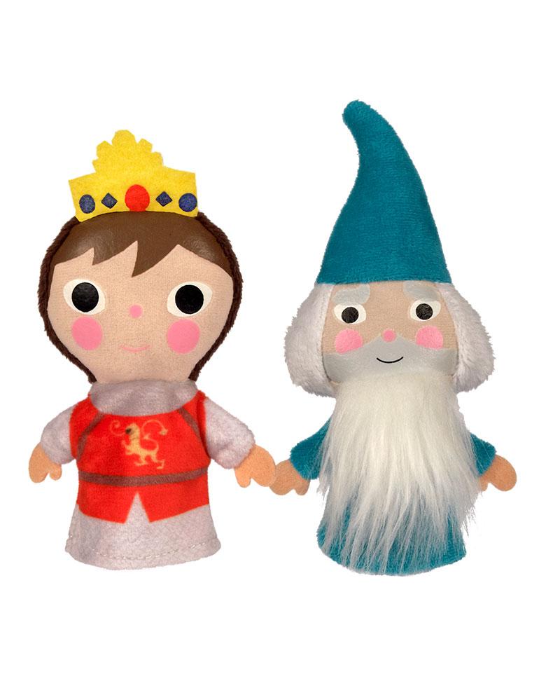 El rey Arturo + los títeres de Arturo y de Merlín