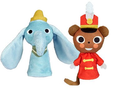 Dumbo + los títeres de Dumbo y del ratoncito Timoteo