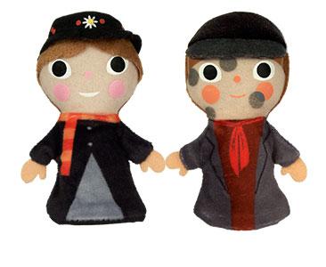 Mary Poppins + los títeres de Mary Poppins y del deshollinador