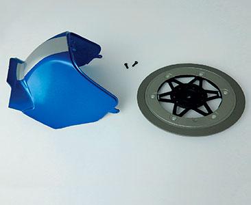 Fascículo 4 + parte trasera del depósito y pieza del disco de freno