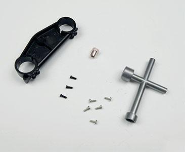 Fascículo 11 + placa inferior de la horquilla y llave de cruceta