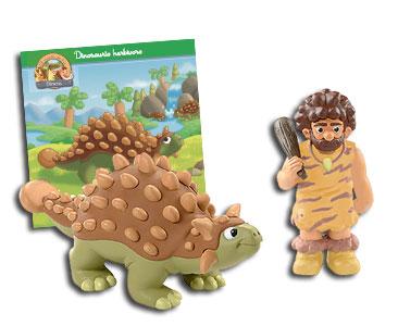 Libro 6: El anquilosaurio + Anquilosaurio + Humano