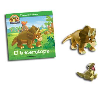 Libro 1: El triceratops + Triceratops + T-Rex bebé